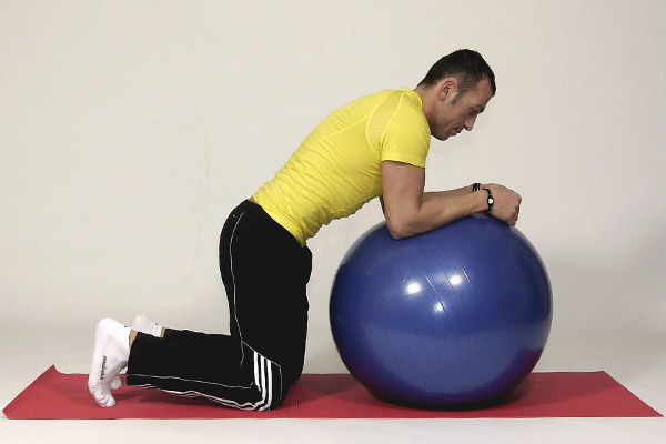 Partial Plank on the Exercise Ball