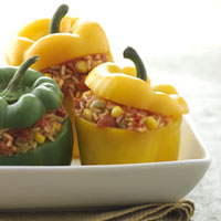 Stuffed Peppers with Spanish Rice